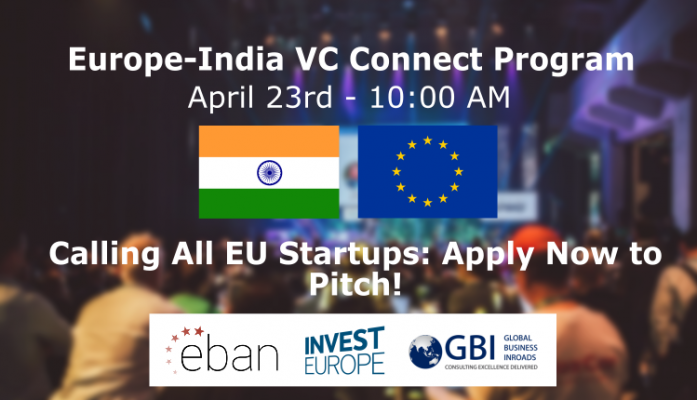Apply now to Pitch at the Europe-India VC Connect Program!